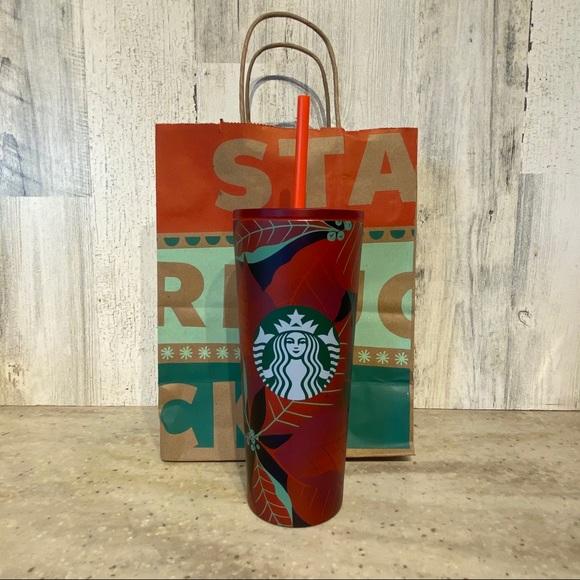Starbucks Holiday 2020 Poinsettia S/Steel Tumbler